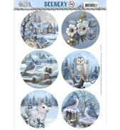 Pushout vel wesome winter Amy Design scenery cirkel
