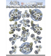 Awesome winter 3D push out winter flowers van Amy Design
