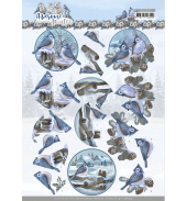Awesome winter 3D knipvelset winter village/winter birds van Amy Design