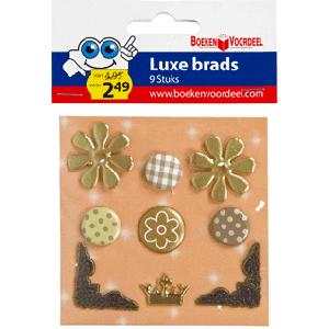 Luxe brads naturals Creme Goud