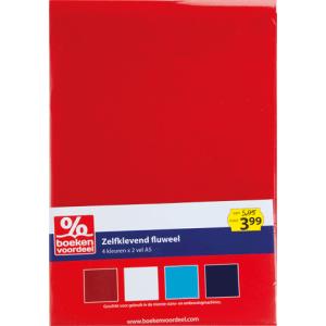 Zelfklevend Fluweel Rood-Blauw
