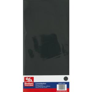Linnenkarten 13,5 x 27 cm (zwart)