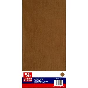 Linnenkarton 13,5 x 27 cm - Mokka kraft (44)