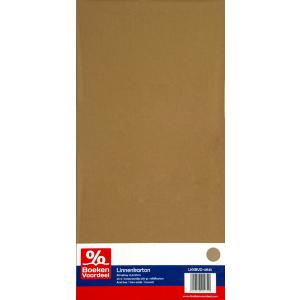 Linnenkarton 13,5 x 27 cm - Cappuccino (45)