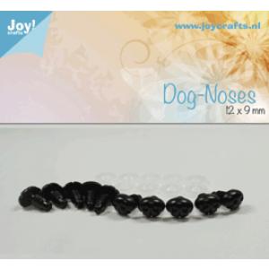Honden neus zwart 12x9 mm