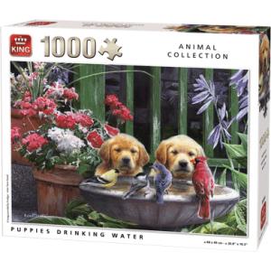 Legpuzzel Puppies Drinking Water (1000 pcs)