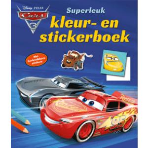 Cars superleuk kleur- en stickerboek