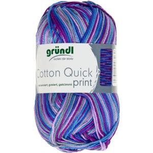 Cotton Quick Print Aubergine Multicolor 50 gram