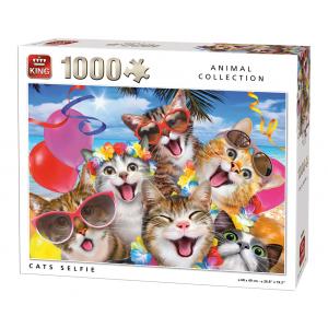 legpuzzel Cats selfies 1000 stukjes