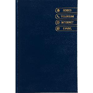 Adresboek blauw