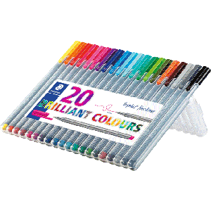 Staedtler Triplus fineliner 20st brilliant colours 0,3mm