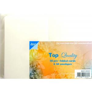 Joy kaarten 50st ivoor 240gr en enveloppen 120gr C6