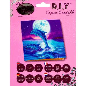 Crystal card kit A11 Dolphins 18x18