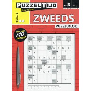 Puzzelblok met Zweedse puzzels nr. 005 met 2 stippen van Puzzeltijd