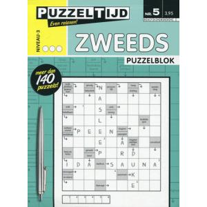 Puzzelblok met Zweedse puzzels nr. 005 3 stippen van Puzzeltijd