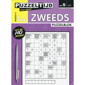 Puzzelblok met Zweedse puzzels nr. 005 4 stippen van Puzzeltijd