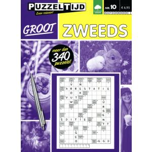 Puzzelboek groot Zweeds nr. 10 Puzzeltijd