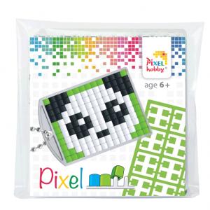 Pixelhobby medaillon sleutelhanger startset panda
