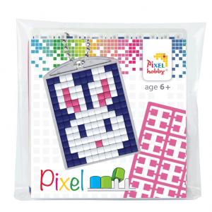 Pixelhobby medaillon sleutelhanger startset konijn