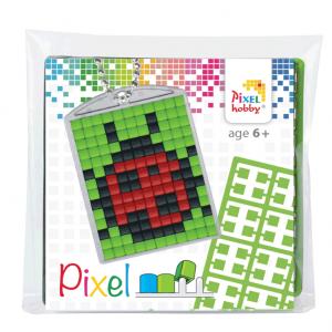 Pixelhobby medaillon sleutelhanger startset lieveheersbeestje