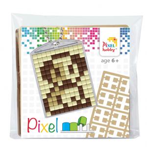 Pixelhobby medaillon sleutelhanger startset hondje