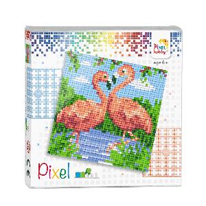Pixelhobby Pixel flamingo's