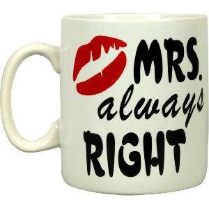Mug Mr Right & Mrs Always right