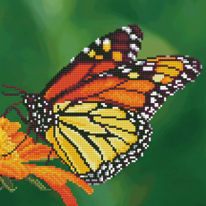 Diamond Dotz monarch butterfly 30,5x30,5cm