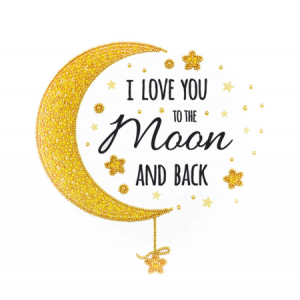 Miniart Crafts 'Love you to the moon and back' 25 x 25 cm