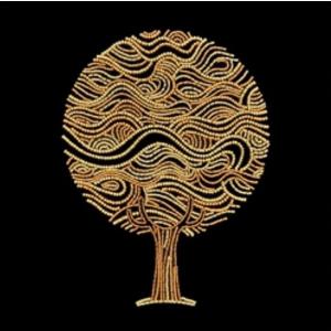 Miniart Crafts Golden tree 30 x 30 cm