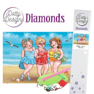 Dotty Designs Diamonds Bubbly Girls Beach 29,7X42cm