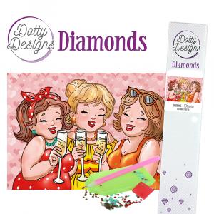 Dotty Designs Diamonds Bubbly Girls Cheers 29,7x42cm