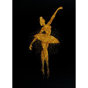 Miniart Crafts Ballerina in Gold 39 x 55 cm