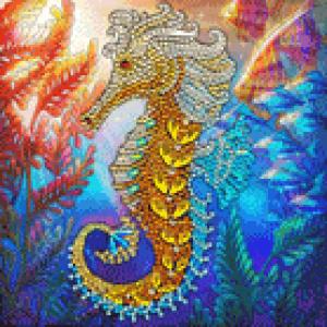 Crystal Card kit A48 seahorse 18x18cm