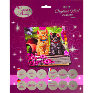 Crystal Card kit A53 cat friends 18x18cm