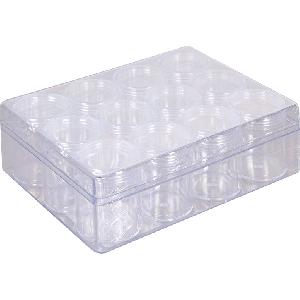 Opbergdoos met 12 sorteerbakjes groot voor Diamond Painting