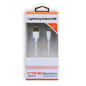 Lightning kabel USB 2 meter Fame Electronics