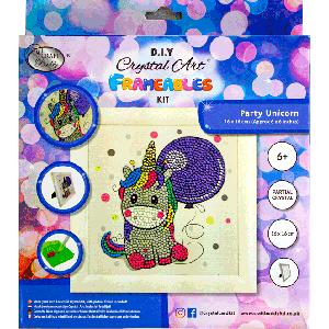 Crystal art kit feest eenhoorn in lijst