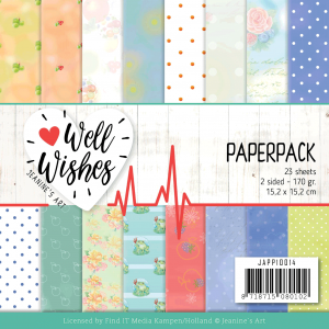 Jeanine's Art Well Wishes paperpack 23vel 170gr 2sided