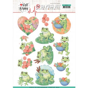 3D pushout vel Frogs Jeanine's Art Well Wishes