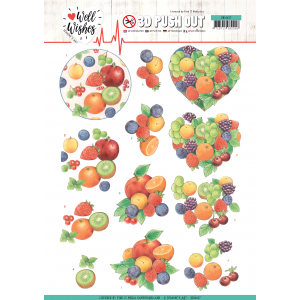 3D pushout vel Fruits Jeanine's Art Well Wishes