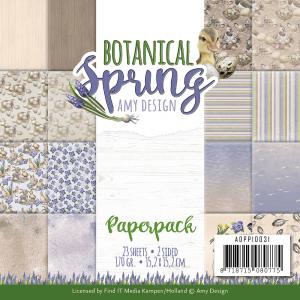 Papierblokje/ paperpack Botanical spring amy design