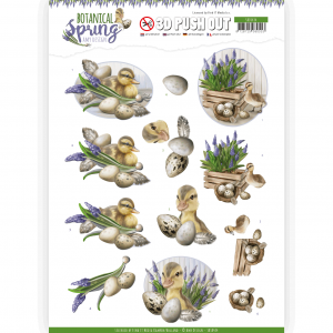 3D Pushout vel Happy Ducks Botanical Spring Amy Design