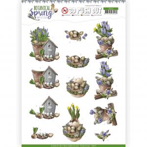 3D Pushout vel Spring Arrangement Botanical Spring Amy Design
