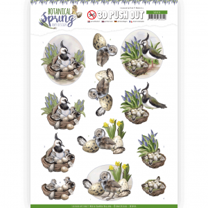 3D Pushout vel Lapwing Botanical Spring Amy Design