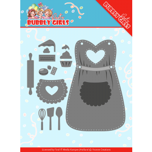 Snijmal apron short bubbly girls party Yvonne Creations