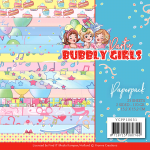 Papierblokje/ paperpack Bubbly girls party Yvonne Creations
