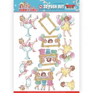 3D pushout vel let's have fun Bubbly Girls Party van Yvonne Creations