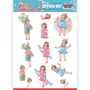 3D pushout vel party time Bubbly Girls Party van Yvonne Creations