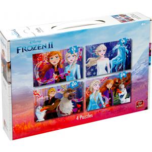 Frozen II legpuzzel 4 in 1